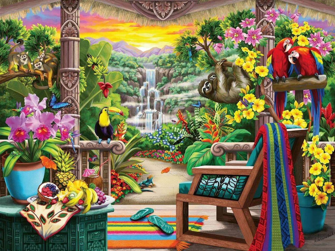 Puzzle 750: Odpoczynek w tropikach (16802)