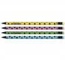 Ołówek w kropki z gumką czarne drewno Adel 2091194000990