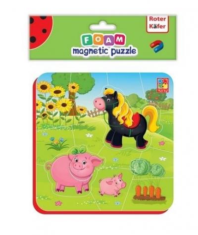 Miękkie magnetyczne puzzle - Koń i Świnki (RK5010-06)