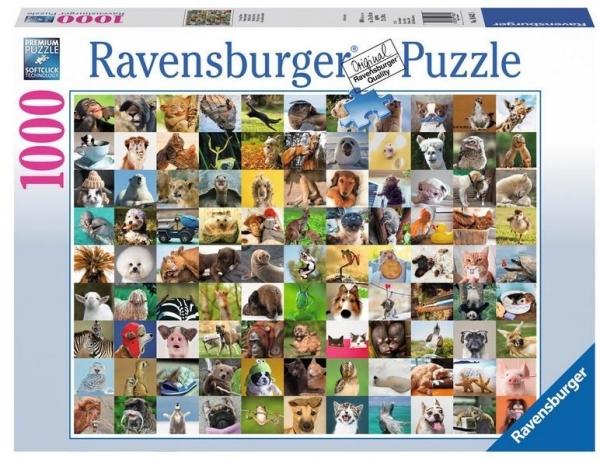 Puzzle 1000 elementów 99 zabawnych zwierząt (196425)