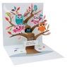 Kartki 3D - Owl Tree