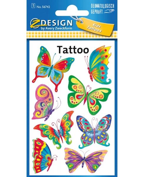 Tatuaże dla dzieci - motyle (56742)