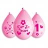 Balon gumowy Godan Moje 1 urodziny różowy 5 szt. 5 szt różowy (GB-MU1GW)
