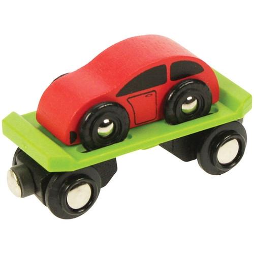 Wagon do przewozdu samochodów z pojazdem