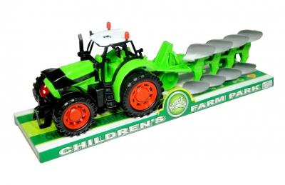 Traktor z pługiem