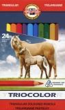 Kredki Triocolor trójboczne 24 kolory