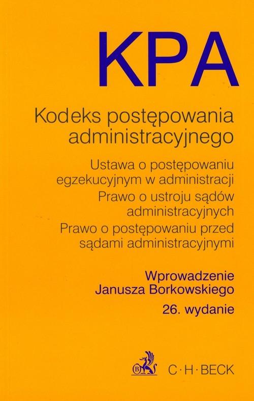 Kodeks postępowania administracyjnego Borkowski Janusz