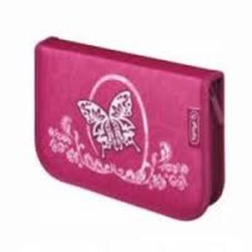 Piórnik dwuklapkowy z wyposażeniem Rose Butterfly