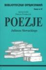 Biblioteczka Opracowań Poezje Juliusza Słowackiego