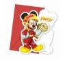 Zaproszenia z kopertą Mickey Roadster Racers 6 szt.