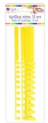 Płatkowe paski do quillingu stokrotka i frędzle - żółte, 12 szt. (QGPQ-051)
