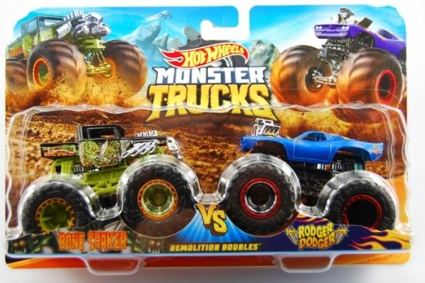 Hot Wheels - Monster Trucks: Pojazd 1:64 2-pak (FYJ64)