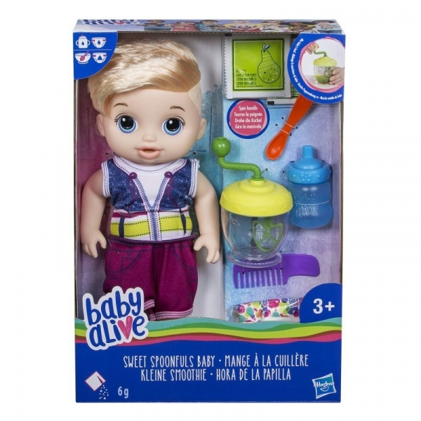 Baby Alive Lala Słodka Przekąska Blondyn (E0635)
