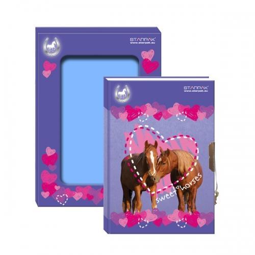 Pamiętnik zamykany w pudełku Konie