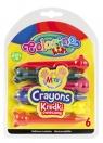 Kredki świecowe zwierzątka Colorino Kids 6 kolorów (33022PTR)