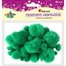 Pompony akrylowe, 45 szt. - zielone (338508)