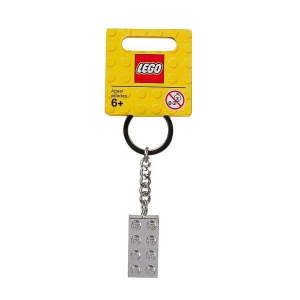 LEGO Srebrny klocek 2x4 brelok (851406)