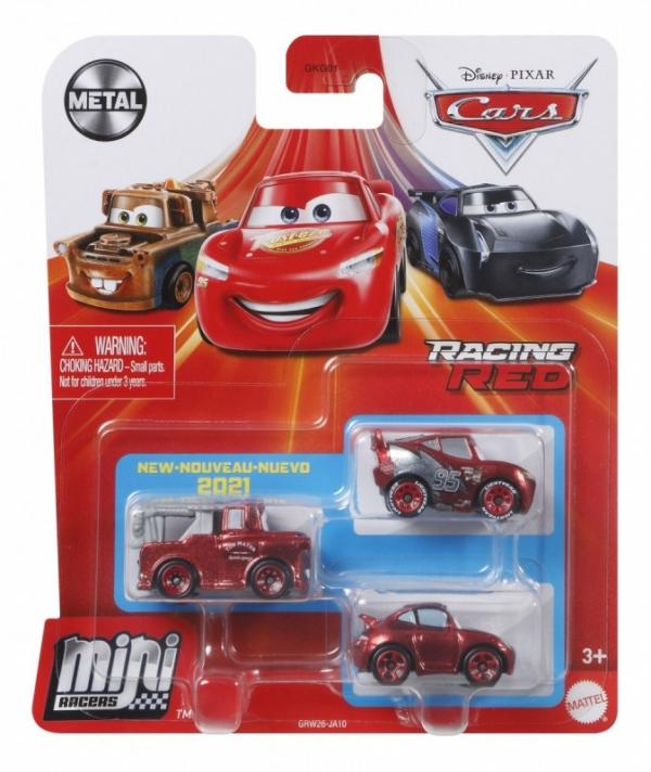 Pojazdy Auta 3-pak Zygzak McQueen, Złomek i Sally (GKG01/GRW26)