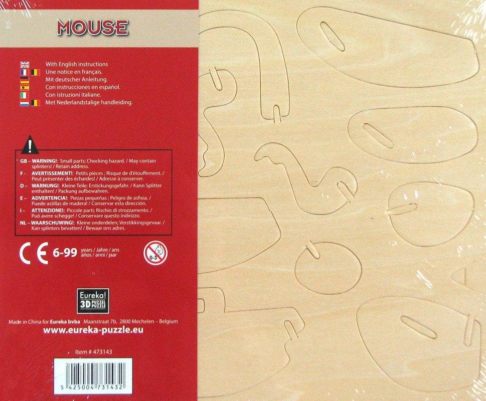 Łamigłówka drewniana Gepetto - Mysz (105669)