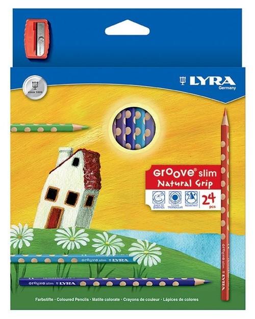 Lyra Kredki Groove slim 24 sztuki + temperówka (L2821240 FIL)