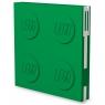 Kwadratowy notatnik LEGO z długopisem - Zielony (52443)