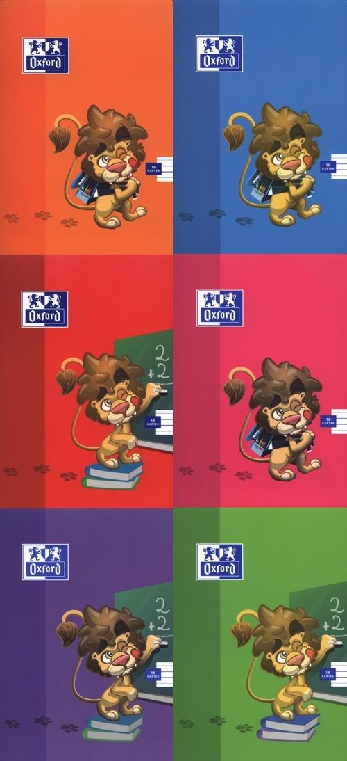 Zeszyt Oxford Lion w A5 16 kartek trzy linie
