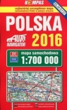 Polska 2016 Mapa samochodowa 1:700 000