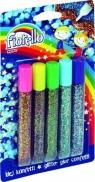 Klej z brokatem Fiorello confetti 5 kolorów