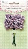 Kwiaty papierowe 2 cm 16 szt róże (MISTY HEATHER)