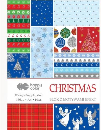 Blok A4/10 z motywami Święta 2 150g HAPPY COLOR