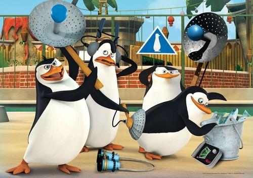 Puzzle Supercolor 60 Pingwiny z Madagaskaru (26943)