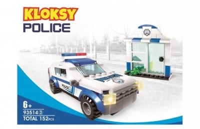 Klocki Kloksy: Policja wóz patrolowy 152 elementy