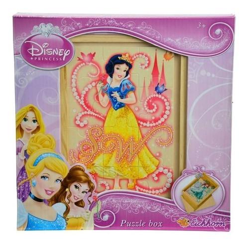 Puzzle drewniane w pudełku 49 elementów Princess