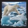 Magnes 3D - Niedźwiedź polarny w skoku