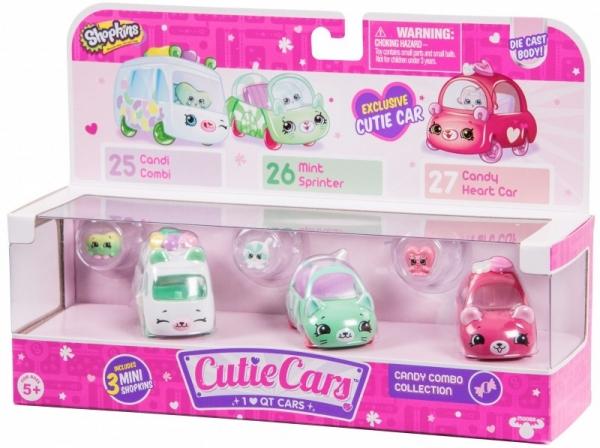 SHOPKINS CUTIE CARS 3-pak, Candy Combo (SCC56611C)