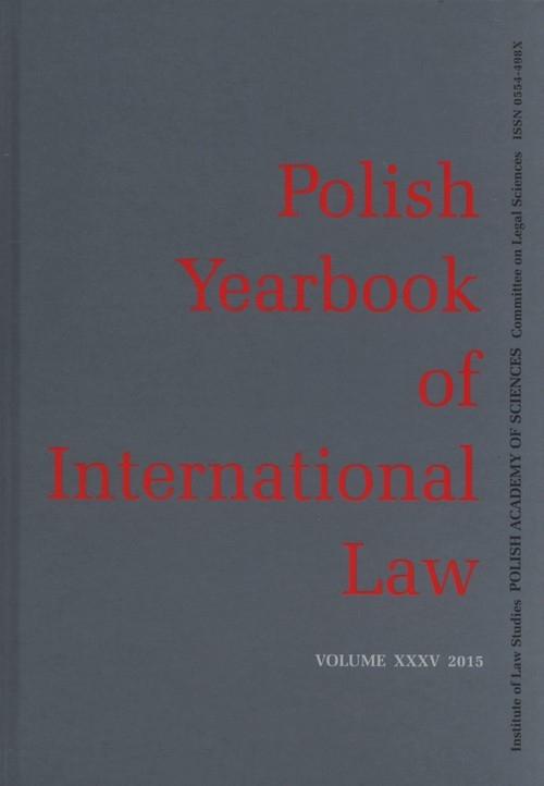 Polish yearbook of international law XXXV 2015