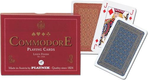 Karty do gry Piatnik 2 talie Komandor (czerwony)