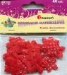 Dekoracje materiałowe kwiatki czerwone w kropki 40 sztuk