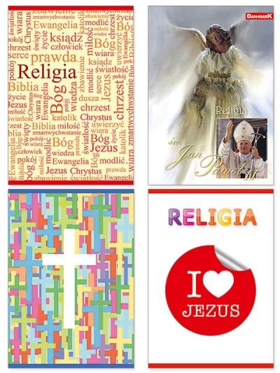 Brulion tematyczny Dan-Mark do religii A5 krata 80 Jan Paweł II DANMARK