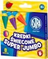 Kredki świecowe Super Jumbo 8 kolorów ASTRA
