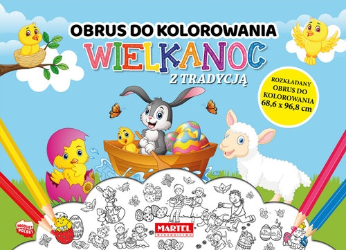 Wielkanoc z tradycją - obrus do kolorowania Aleksandra Adamska-Rzepka