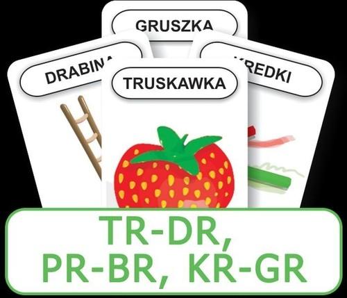 Karty Logopedyczny Piotruś Część XIV - głoski TR-DR, PR-BR, KR-GR