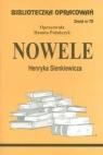 Biblioteczka Opracowań Nowele Henryka Sienkiewicza