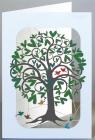 Karnet PM243 wycinany + koperta Zielone drzewo