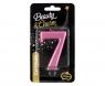 Świeczka urodzinowa Godan nr 7 różowa 8 cm (PF-SCR7)