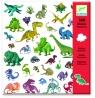 Zestaw naklejek Dinozaury (DJ08843)