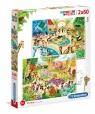 Puzzle Supercolor Zoo 2x60