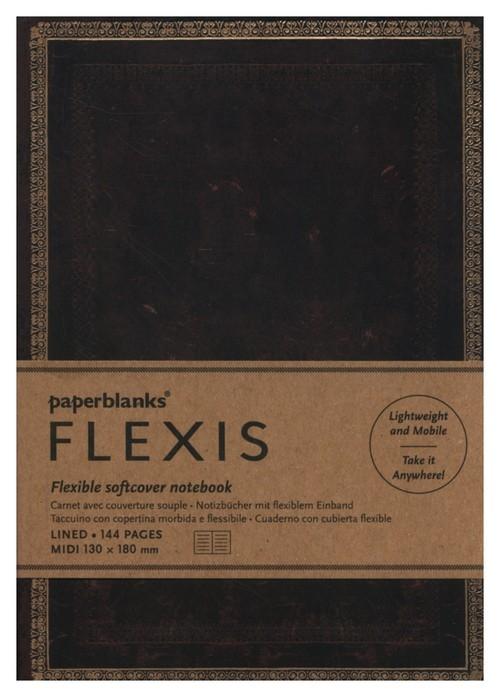 Notatnik Black Moroccan Flexis Midi linia