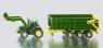 Siku Farmer - Traktor John Deere z przyczepą i ładowarką - Wiek: 3+ (1843)