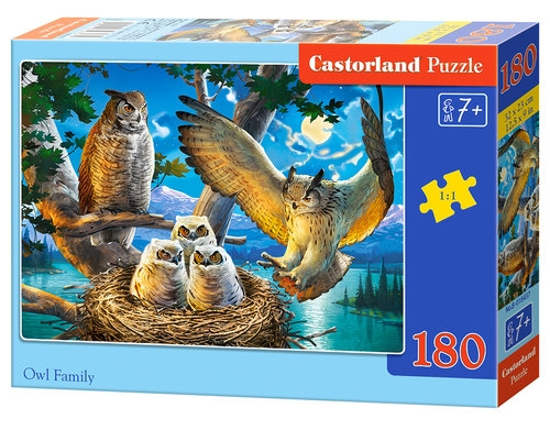Puzzle Owl Family 180